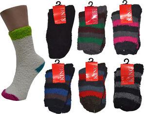 Bulk 6 Pairs Women Fluffy Bed Socks
