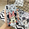 Disney Cartoon Mickey Minnie TPU Phone Case Cover For iPhone 11 Max XR Xs 6s 7 8
