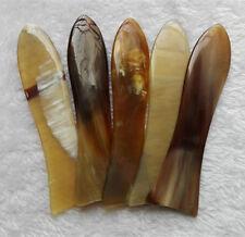 "5.5"" Unique Fish-Shaped Natural Ox Horn Gua Sha Ban Durable Full Body Massager"