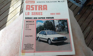 Holden LB Astra 1984/85 Gregorys Workshop Manual 231 repair service