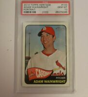 2014 Topps Heritage Portrait #100 Adam Wainwright PSA 10 POP 2