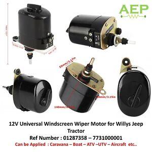 12V Universale Tergicristallo Motore per Willys Jeep 01287358 – 7731000001