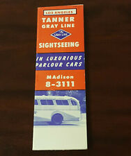 Los Angeles Tanner Gray Line Sightseeing Fold Out Brochure Madison 8-3111 1928