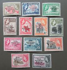 Item 120102 1957 QE Ghana Independence Overprint set  #5-16 MLH