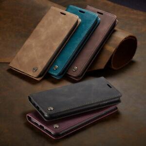 Slim Luxury Retro Leather Card Holder Flip Wallet Case Cover For Smart Cellphone