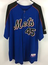 Men's PEDRO MARTINEZ New York METS Blue Jersey - Authentic Majestic - XXL 2XL