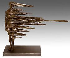 """Moderne Kunst Skulptur, Bronze - """"Standhaft"""" - signiert"""