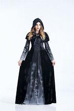 New Ladies Dark Witch Black Horror Halloween Costume Fancy Party Dress ladcos32