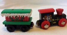 THOMAS & FRIENDS 2 Train Cars LOCOMOTIVE & WINTER CABOOSE Sodor CHRISTMAS GREET