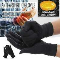 1 Pair Copper Arthritis Compression Gloves Hand Support Joint Pain Relief US