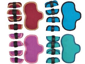 Satteldecke Gamaschen Handarbeit Zubehör passend für Schleich  Pferde Sattel
