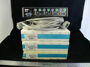 TRIPP-LITE 4 PORT KVM Switch B004-004-R with 4 cables Model DKVMCB....A2