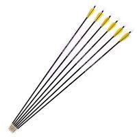"""X6 30"""" Carbon Arrows Archery Spine1000 Plastic Vans OD5mm For  Recurve Bow"""