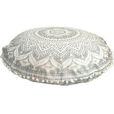 Bohemian Mandala Floor Cushion Cover Round Meditation Pillow Floral Cotton 32""