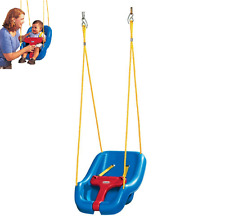 Baby Toddler Swing Secure Blue Kids Outdoor Indoor Playground Yard Snug Portable