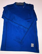 Nike Pro Combat Base Layer Size M Boys Blue Thermal Warm Training Top