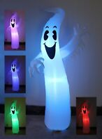 8 Foot Halloween Inflatable Ghost Garden Blowup Yard Decoration Color LED Lights