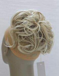 """New Large Synthetic Elastic Hairpiece Updo Scrunchies Bun Extensions Wavy 7"""""""