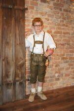 Kidstracht Kinderlederhose Kniebundlederhose Lederhose braun Gr 98-158 Volksfest