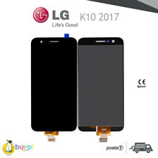 DISPLAY LCD + TOUCH SCREEN PER LG K10 2017 NERO SCHERMO VETRO ASSEMBLATO M250N