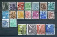 21 Briefmarken Alliierte Besetzung II. Kontrollratsausgabe  943 - 961 gestempelt