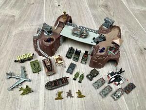 Micro Machines Military Vintage Galoob Thunder Crossing Playset Bundle Tanks LGT