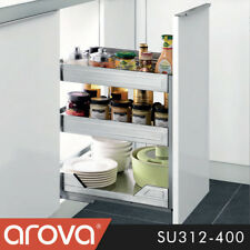 Pull Out Pantry SS Organiser Kitchen Base Storage Soft Close For 400mm Cabinet