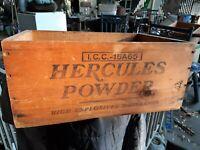Antique Hercules powder gold mining powder box California goldrush