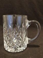 """Edinburgh Crystal Tay Beer Tankard Mug Glass 4 7/8"""" H Sold Individually Signed"""