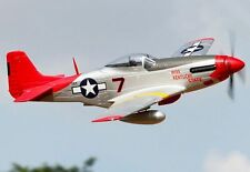 P-51D, Red Tail, Plug N Play, Wingspan: 66.9 in (1700mm) Brushless RC Airplane