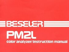 BESELER Instruction Manual PM2L color analyzer OWNERS MANUAL on CD