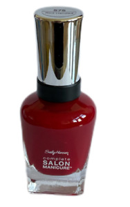 SALLY HANSEN COMPLETE SALON MANICURE NAIL POLISH VARNISH RED SHADE RED-HANDED
