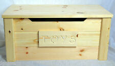 handmade solid wooden pine toy box