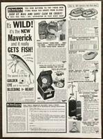 1967 Klein's Sporting Goods Chicago Print Ad Rafts Lure Tackle Satchel Walkies
