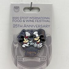 Disney Parks Food & Wine Festival Epcot 2020 Chef Mickey & Minnie Mouse Lr Pin