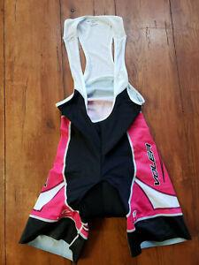 Women's XL Cycling Bibshorts Pink Black USA Made Spin, Bike, Padded, Voler