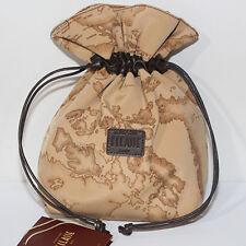 Borsa Prima Classe borsa mano pochette beige scuro seta Alviero Martini sacca