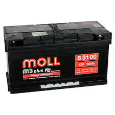 MOLL M3 plus K2 83100 12V 100Ah Autobatterie Startbatterie Batterie 83095 95Ah