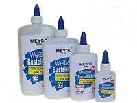 Bastelkleber Weiss Meyco 120 gr.(1kg 18,08 €) Der ideale Bastelkleber für Kinder
