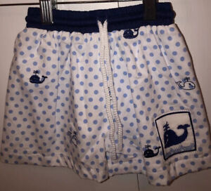 Smocked Toddler Boy Pull On Whale Swim Trunks Size 5