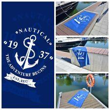 Strandtuch Badetuch Liegetuch Handtuch Saunatuch - Maritim Nautical Blau/ Weiß