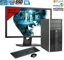 FAST Full Cheap PC HP 6200 MT Quad i5 Office Tower Computer 2TB 8GB SSD Monitor