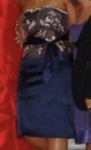 Coast Skirt and Top, Top, Skirt, Matching Set, Beautiful, Satin, Navy, 14/16