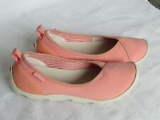 NEW Crocs Ladies Peach Pink Slip On Casual Shoes Pumps Size 4