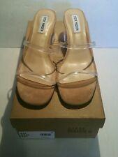 Steve Madden Women's Shoes Issy Open Toe Casual Mule Sandals, Clear, Size 8.5