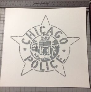 Chicago Police Badge Stencil Large