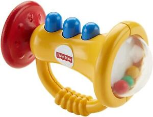 Teethe N Rattle Trumpet Toy Fisher-Price for Children Horn Rattle Mordicchiabile