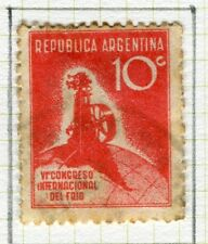 ARGENTINA;  1932 early Refrigerating Congress issue fine used 10c. value