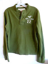 Hollister 22 CA  Pull Over Knit Shirt Olive Green   100% Cotton  MW
