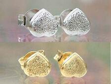 Herz Ohrstecker  - wahlweise Gelbgold od Weißgold 585 diamantiert Goldohrstecker